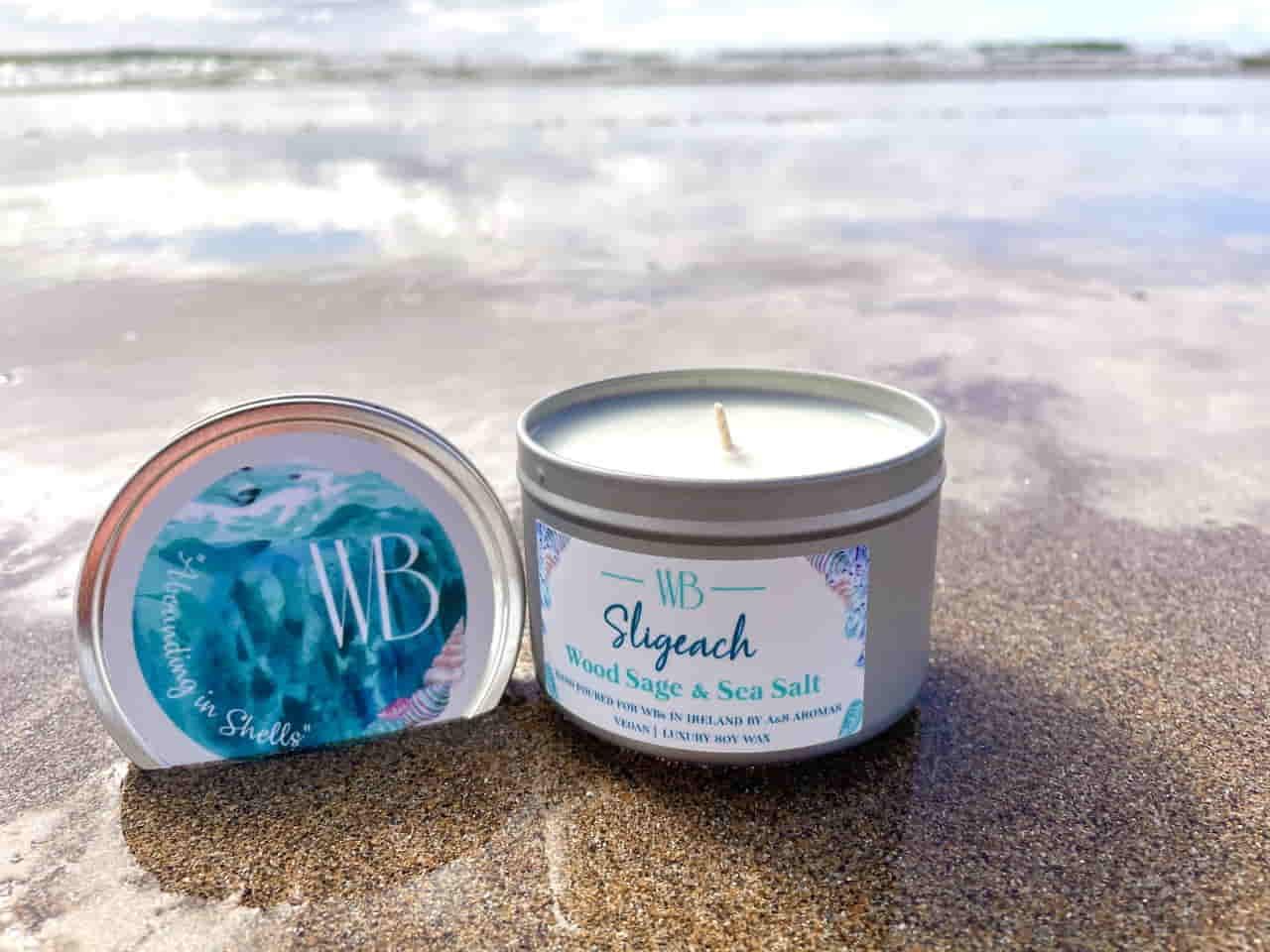 Sligeach 'Abounding in Shells' Candle Open