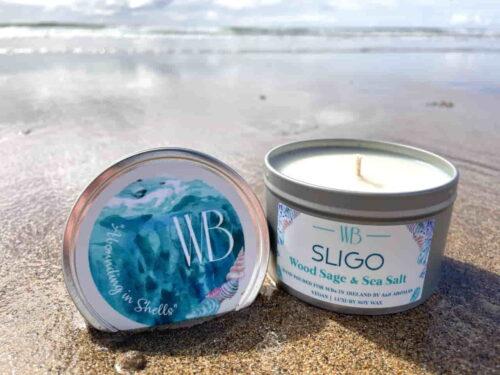 Sligo 'Abounding in Shells' Candle Open
